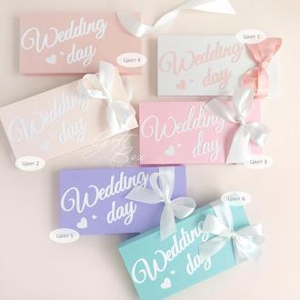 "Gift Box ""Wedding day"" Цвет 6- открытка в коробочке"