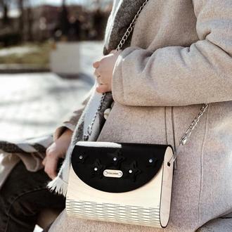 Черная деревянная сумка FIGLIMON