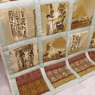 лоскутное одеяло-покрывало пэчворк-подарок на новоселье-стеганый плед-покрывало на кровать