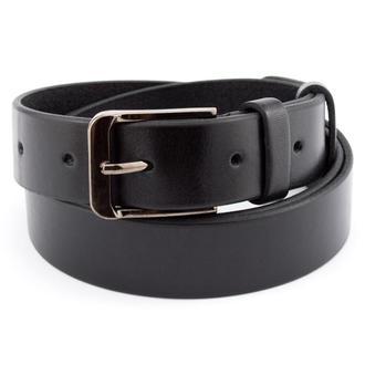 Женский кожаный ремень KB-30 black (3 см)