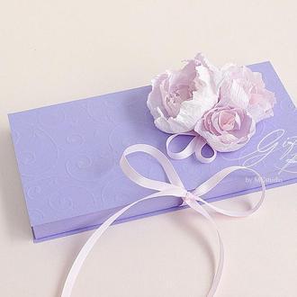 """Gift Box """"Kollet"""" Цвет 3 (сиреневый) - открытка в коробочке"""