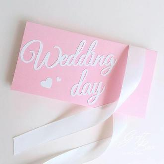 "Gift Box ""Wedding day"" Цвет 3- открытка в коробочке"