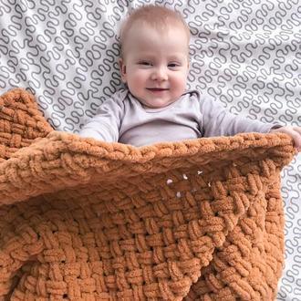 Плюшевий Дитячий плед, Дитяча ковдра, плед для новонародженого, на подарунок