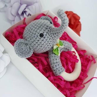 Слон, слоник, погремушка