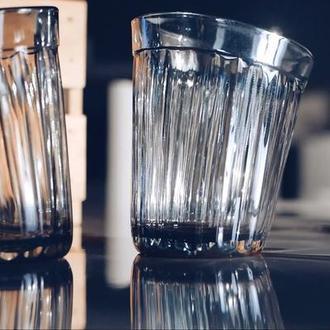 Пьяный граненый голографический стакан