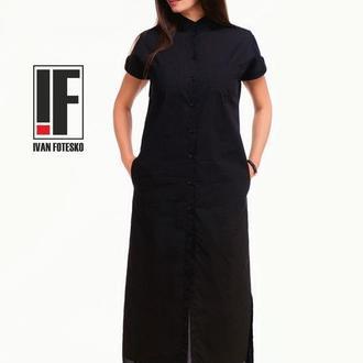 Платье-рубашка ровное арт.2625