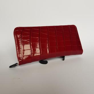 кошелек клатч из кожи крокодила