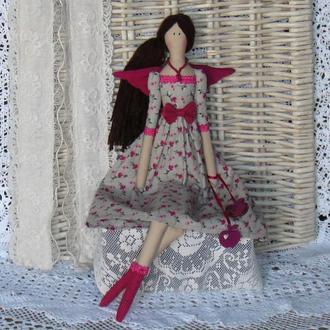 Кукла в стиле Тильда Фея домашнего очага 48см ВНИМАНИЕ БОНУС !!!