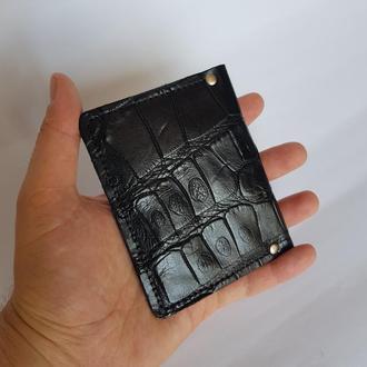 Обложка для документов паспорта пропуска карт из кожи крокодила