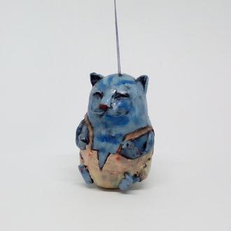 синий кот елочная игрушка