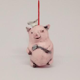 свинка елочная игрушка