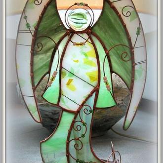 Статуетка Вітраж Скло Ангел