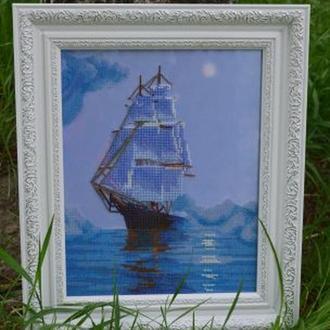 """Картина, вышитая бисером """"Тихая гавань"""""""