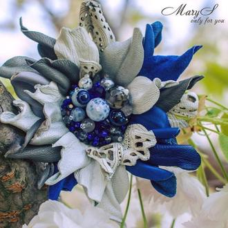 Брошь на заказ «MaryS Leather Accessories» от Cтудии аксессуаров Марии Суслиной