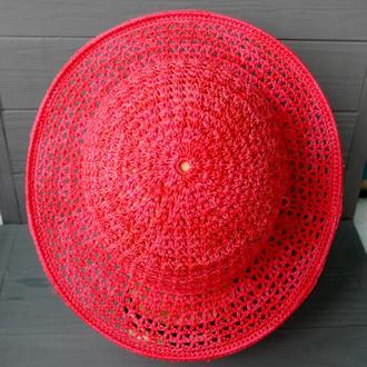 Шляпа летняя с полями 06// Літній капелюх с полями