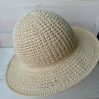 Шляпа летняя с полями 04//Літній капелюх с полями