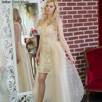 Свадебное платье 2 в 1 с пышной юбкой Вероника