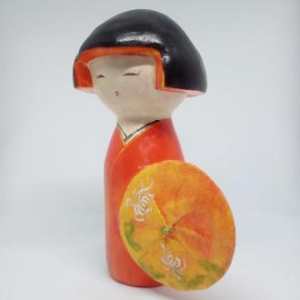 японская кукла талисман кокеши Кику