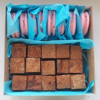 Подарочная коробка Макаронс+Птичье молоко, Macarons