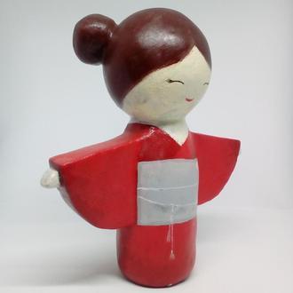 японская кукла талисман кокеши Кеико