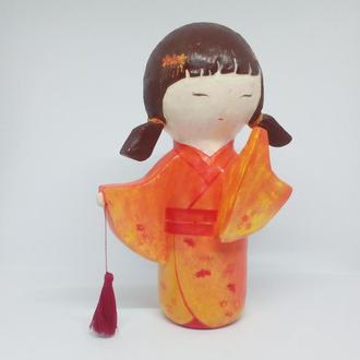японская кукла талисман кокеши Томоко