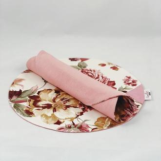 Салфетка 1 шт. Салфетки кухонные с цветами. Салфетка для сервировки. Декоративная салфетка