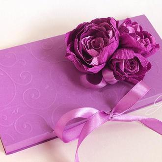 """Gift Box """"Kollet"""" (фиолетовый) - открытка в коробочке"""