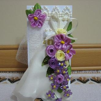Открытка со свадебным платьем