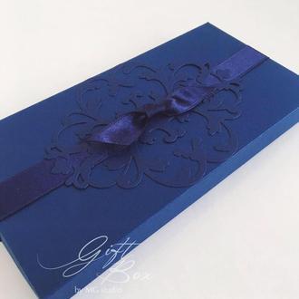 """GiftBox """"Pino"""" Цвет 1 (синий) - открытка в коробочке"""