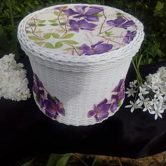 Коробочки, плетеные сумки , чашки , косметички