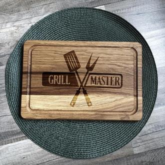 """""""Grill master"""" разделочная доска, доска для подачи из дуба 01"""