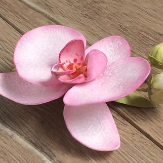 Заколка «Розовая орхидея»