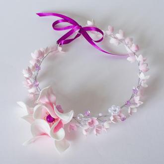 Легкий веночек с волшебным цветком подарит вам сказочное настроение