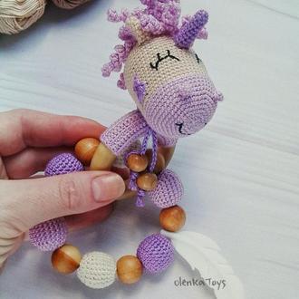 Погремушка - грызунок Единорог