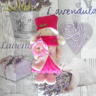 """Интерьерная текстильная кукла """"Розали"""""""