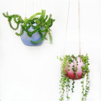 """Горшок керамический """"Тюльпан"""" подвесной"""