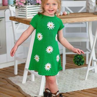 Платье для девочки «ромашка», хлопковое летнее платье