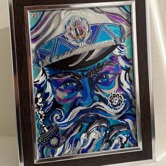 Витражная картина «Старый мореплаватель»