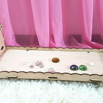 """Кроватка """"Королевская"""" для кукол Барби, Monster high и т.д. Код 004.20.08"""