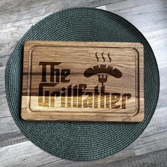 """""""The GrillFather"""" разделочная доска, доска для подачи из дуба"""