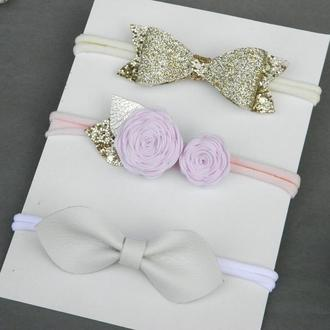 Набор повязок для новорожденной малышки, Детская повязка