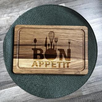 """Bon appetit"" разделочная доска, доска для подачи из дуба 05"