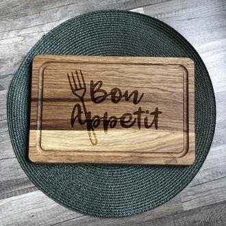 """Bon appetit"" разделочная доска, доска для подачи из дуба 06"