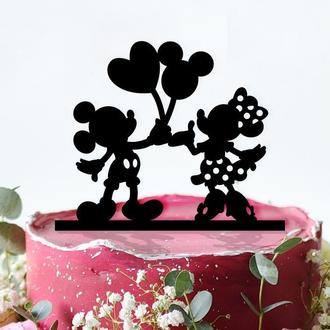 "Топпер в торт ""Mickey and Minnie Mouse"""