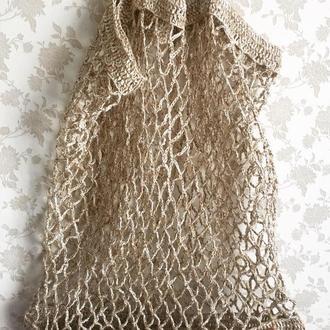 Эко торба, большая пляжная сумка, авоська,женская летняя сумка, сетка
