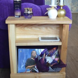 Тумбочка из ясеня, универсальная, мебельный декор