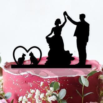 Свадебный топпер на торт