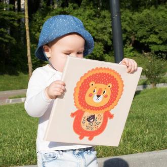 "Картина ""Левеня"" (детские картины на стену, можливе виготовлення картини із Вашого фото)"