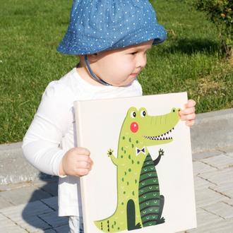 """Дитяча картина  """"Крокодил"""" (картины для детской комнаты)"""