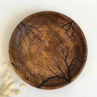 Сервіровочна тарілка для сиру, тарілка з дерева